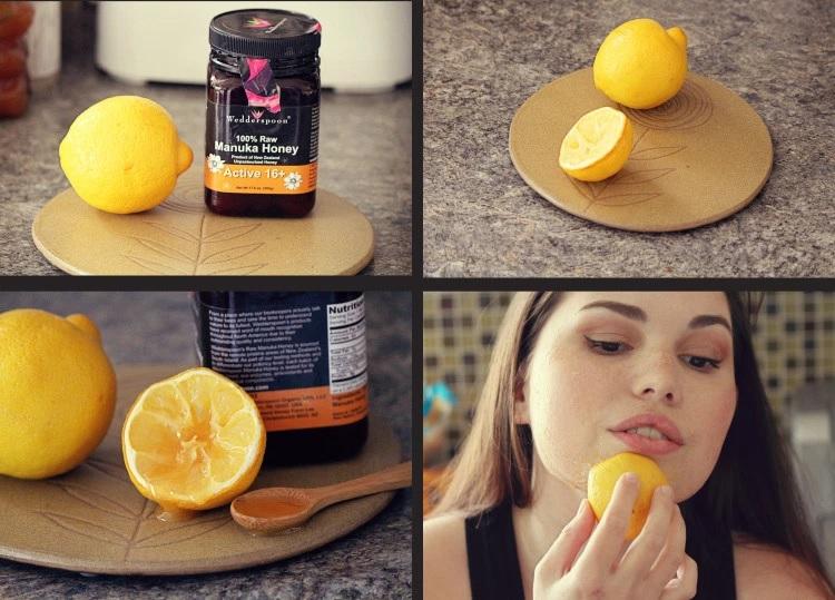 nettoyer sa peau avec du citron