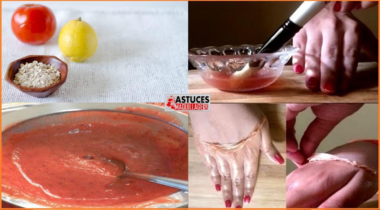 Les méthodes du blanchiment de la peau de la personne