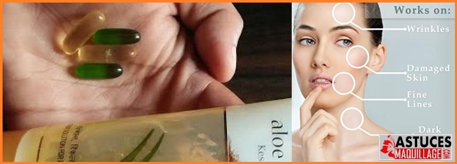 capsule vitamine e pour visage